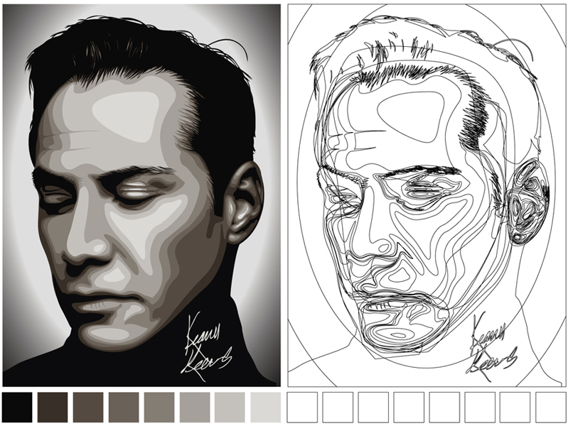 Vector Self-Portrait Examples | Roosevelt Graphic Arts