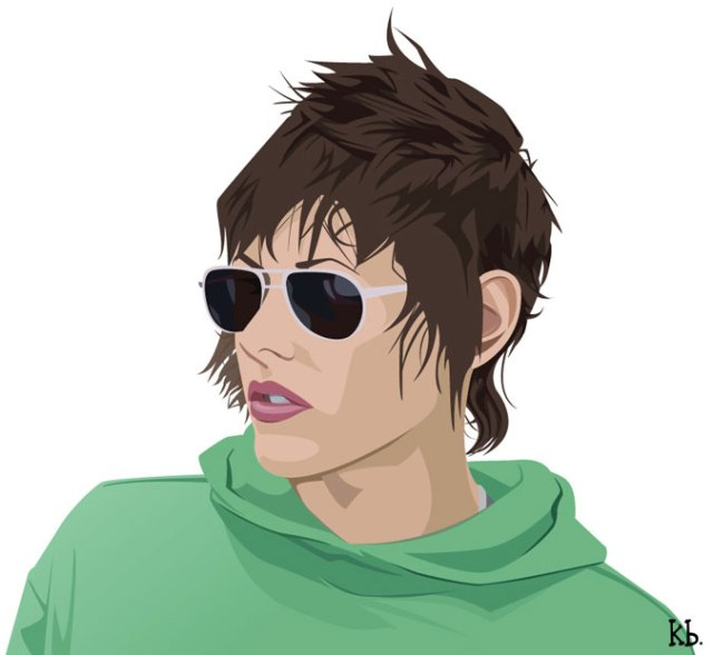 Kate_Moennig_Vector_Portrait_by_KrystalBeisick