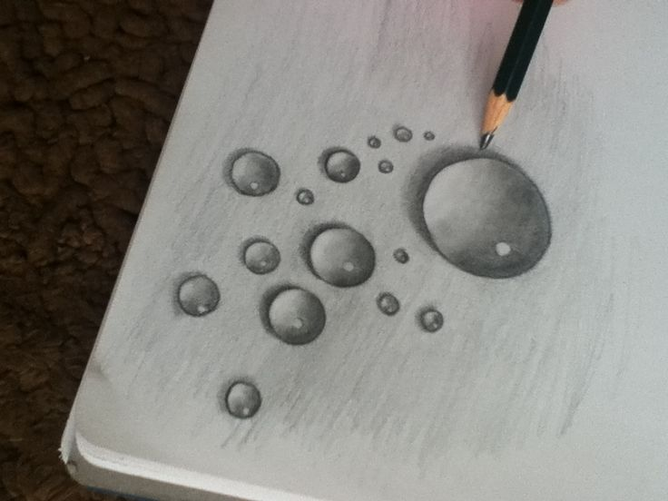 how to draw water with pencil step by step