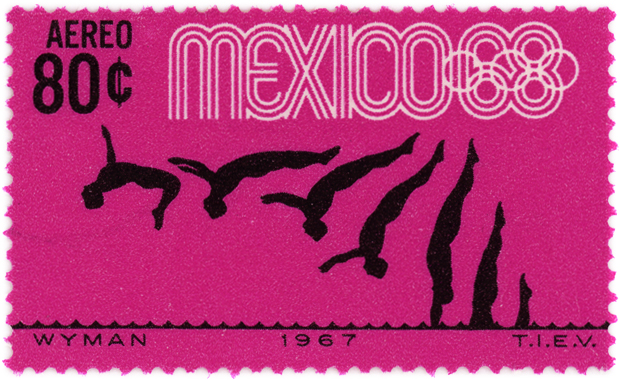 olympic-games-mexico68-magenta-stamp-diving - Copy