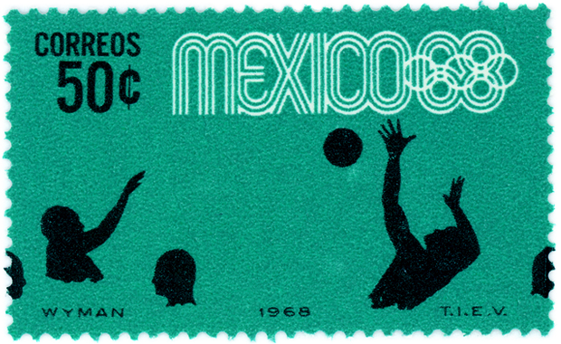 olympics-mexico-1968-water-polo-stamp - Copy