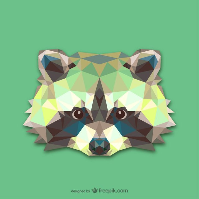 triangle_raccoon__vector__by_hundredmelanie-d7rysd3